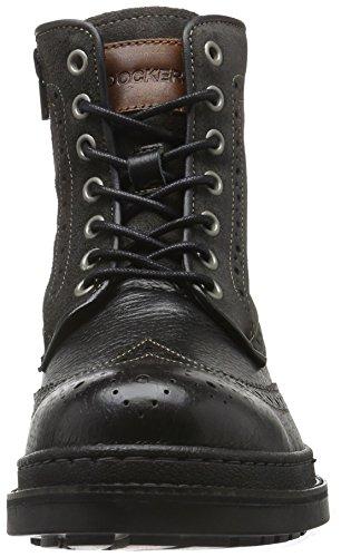 Dockers by Gerli 39fi001-182120 - botas con forro cálido de caña media y botines Hombre Negro