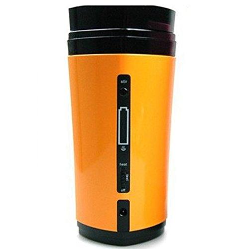 TOOGOO(R) Rechargeable USB Powered Coffee Tea Cup Mug Warmer Automatic Stirring (Yellow)