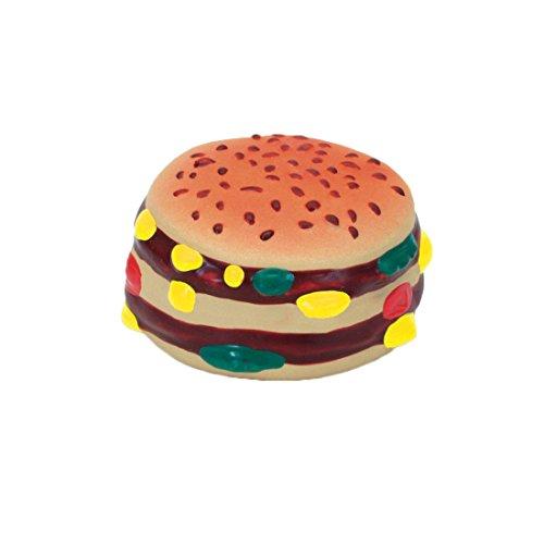 Hamburger Toy (Coastal Pet Rascals Latex Hamburger Dog Toy 2.5-Inch (1-Unit))