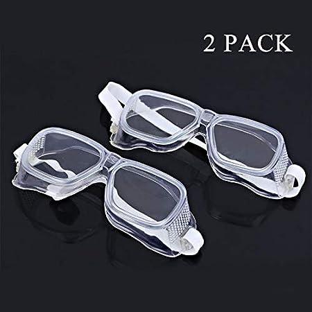 Gafas De Seguridad Paquete 2 Gafas Seguridad Resistentes A Salpicaduras Lentes Antiniebla De Calidad Gafas Seguridad Livianas Sobre Gafas Para Construcción Laboratorio Química Uso Personal