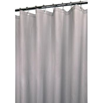 Park B. Smith Mini Satin Stripe Shower Curtain, Antique Silver