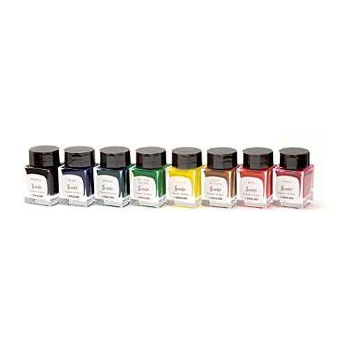 Sailor Fountain Pen mini Bottle 20ml Ink 8 Color Gift Set - Pigment Based '' STORiA '' by Sailor (Image #7)