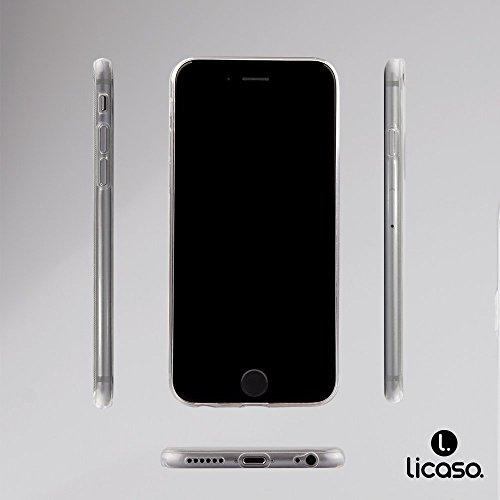 iPhone 6S Hülle von licaso® für das Apple iPhone 6 & 6S aus TPU Silikon Leiter Wolken Hoch Ziel Muster ultra-dünn schützt Dein iPhone & ist stylisch Schutzhülle Bumper Geschenk (iPhone 6 6S, Leiter)
