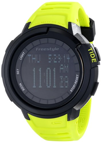 (Freestyle Unisex 103184 Mariner Round Yacht Time Black LCD Display Watch)