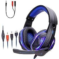 FORONIC Audífonos Gamer con Micrófono HD para PC/Laptops /Xbox One/PS4 /Nintendo Switch, Headset Gaming con Cancelación…