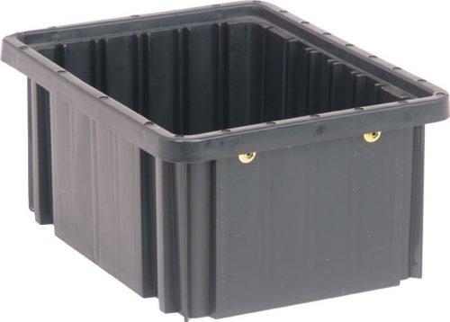 Quantum Storage Systems DG91050CO Dividable Grid Container 10-7/8-Inch Long by 8-1/4-Inch Wide by 5-Inch High, Black Conductive, 20-Pack ()
