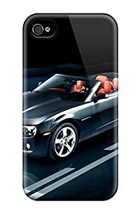 AWU DIYLJF phone case For Iphone 4/4s Protector Case 2011 Chevrolet Camaro Corvertible Phone Cover