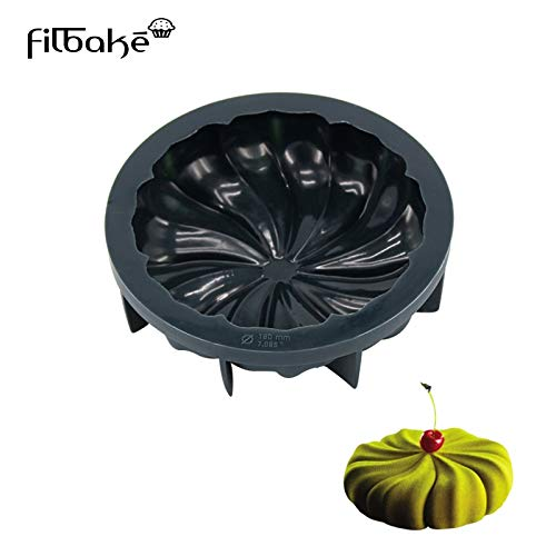 1 piece FILBAKE 1cavity DIY Halloween Expression Pumpkin Head Silicone Cake Mold Mold Of aking Decorating Tools