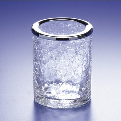 - Windisch by Nameeks Acqua Crackled Crystal Glass Toothbrush Holder Finish: Rustic Gold