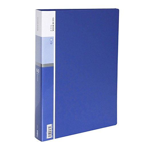 Polypropylene Presentation Pockets - 60-Pocket Business A4 Sheet Presentation Book, 120-Page Capacity for A4 and Letter Size Inserts File-N-View Presentation Display Book