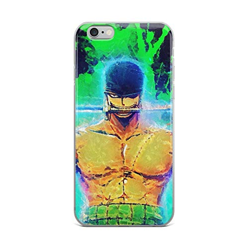 iPhone 6 Plus/6s Plus Case Anti-Scratch Japanese Comic Transparent Cases Cover Zoro Onepiece Paintings Anime & Manga Graphic Novels Crystal Clear -