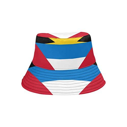 Antigua and Barbuda Flag Unisex Boonie Safari Fishing Bucket Hat ()