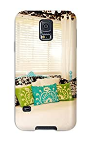 Premium Case For Galaxy S5 Eco Package Retail Packaging Teen8217s Contemporary Bedroom With Teal Iron Sofa 038 Black 038 White Striped Wall