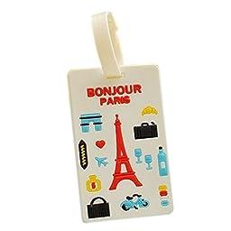 Cute Credit Card Case ID Card Holder Rubber Card Holder, Eiffel Tower