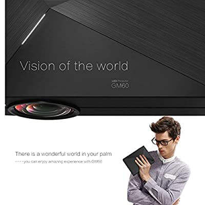 BESTRUNNER LCD LED Projector Full Color Max 130'' Mini Portable 1080P Home Cinema Theater Multimedia Projector Support HD PC USB HDMI AV VGA for Video Movie Child Games Entertainment