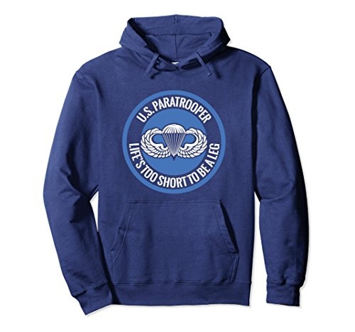 Airborne Shorts (Unisex US Paratrooper Life Is Too Short To Be A Leg Hoodie Large Navy)