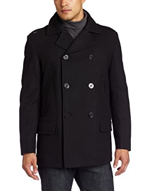 Men's Melton Pea Coat