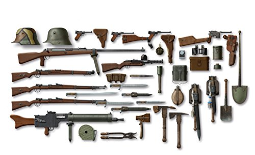 ICM Models WWI German Infantry Weapons and Equipments - German Gun Machine Wwi