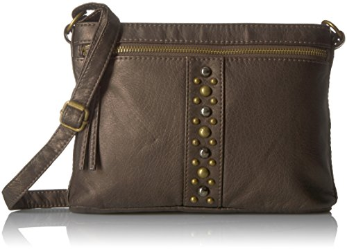 Bueno of California Bueno Faux Antique Leather Washed Crossbody 2 (Washed Finish Bronze)