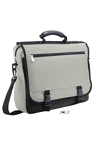 SOL'S-Tela, Borsa porta documenti STANFORD 71500, colore: grigio, magnesio, da donna