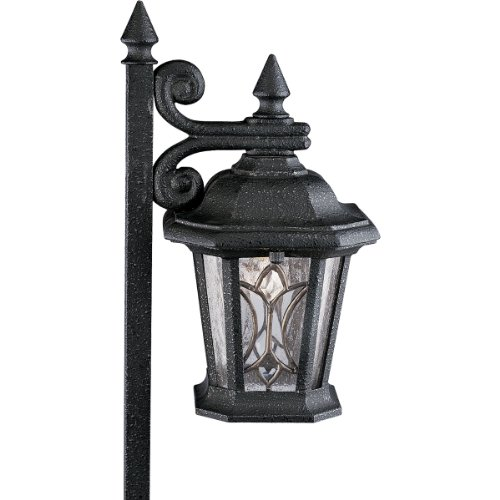 Progress Lighting P5276-71 12-Volt Die Cast Path Light with Tiffany Art Glass, Gilded Iron Review