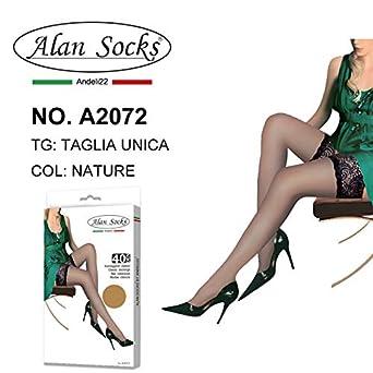 Autoreggenti Classici con una banda di pizzo e silicone 40 Den ALAN SOCKS A2072