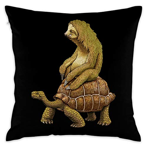 - Pockets Sloth and Turtoise 16''x 16'' Square Throw Pillow Inserts with Pillow Covers Cushions for Couch Bedroom Car