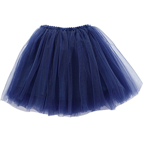 Kids Girls 3 Layers Tutus Costumes Tulle Skirts Tutus for Party Birthday Photograph Dress for 3 Years Navy