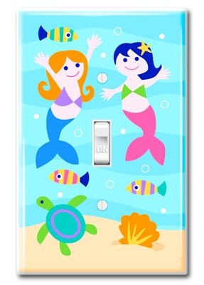 Olive Kids Mermaids Kids Light Switch Plate Cover