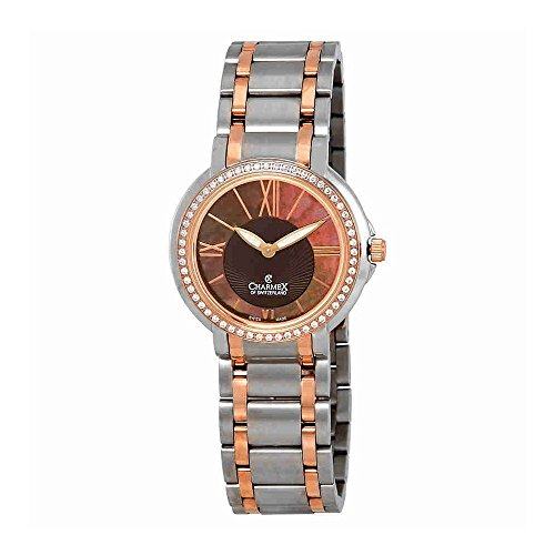 Charmex Brown Mother of Pearl Dial Two-Tone Ladies Watch 6427
