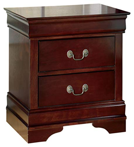 Ashley Furniture Signature Design - Alisdair Nightstand - 2 Drawers - Traditional - Rectangular - Dark Brown (Bedroom Beechwood Set)