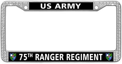 2X Ford RANGER Stainless Steel Black License Plate Frame Rust Free
