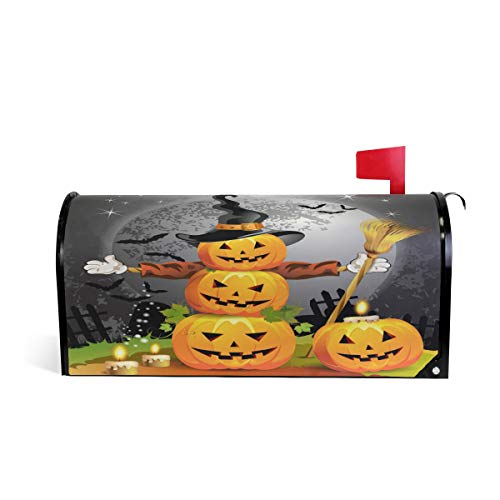 - ALAZA Halloween Pumpkin Magnetic Mailbox Cover Oversized-25.5