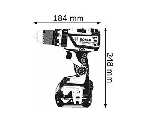Bosch Professional 18V Akku Schlagbohrschrauber GSB 18V-60 C ohne Akku L-BOXX 18 Volt Max. Drehmoment: 60 Nm max. Schrauben-/Ø: 10 mm