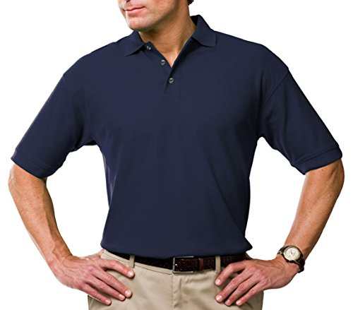 BG 7219 Mens Solid Wicking Polo Shirt - Navy - Blue Shirts Polo Generation