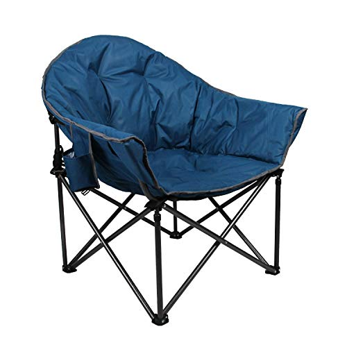Camping World Reclining Folding Oversized Moon Saucer Chair with Cup Holder for Camping, Hiking - Saucer Support 500 LBS reviews