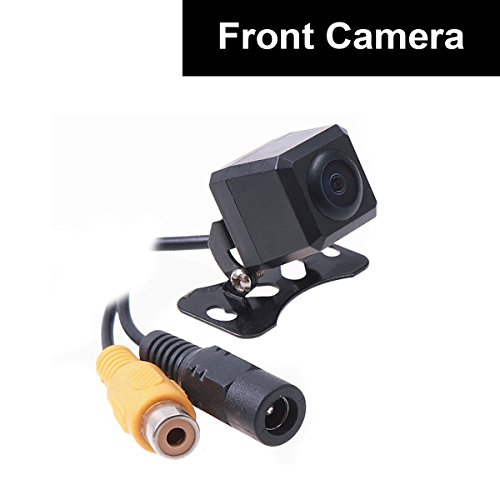Car Auto Front View Camera Forward Cam Screw Bumper Mount Universal Fit Non-Mirror Image w/o Grid Lines Parking Assistance 12V ()