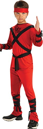 Rubies Red Ninja Child's Costume, Medium