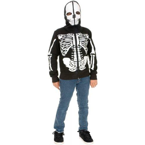 Skeleton Sweatshirt Hoodie Costume - X-Large (Skeleton Hoodies)