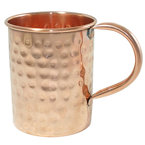 dakshcraft pure copper hammered long mug 500 ml oz with pipe handle perfect drinking. Black Bedroom Furniture Sets. Home Design Ideas