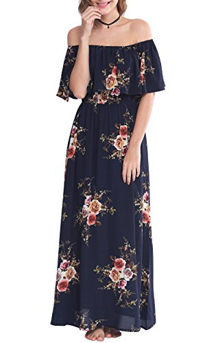Zattcas Womens Shoulder Summer Floral