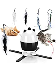 CatToysInteractive, Cat Light Toy & Cat Feather Toys 2 in 1, Recharge CatExercise ToysforIndoorCats, Adjustable Cat Toy Automatic Light, Cat Toys Interactive Light Automatic for Kitten