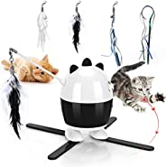 CatToysInteractive, Cat Light Toy & Cat Feather Toys 2 in 1, Recharge CatExercise ToysforIndoorCats,