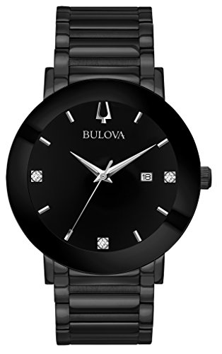 Bulova 98D144 Mens MODERN Diamond Watch w/ Date