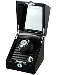 Wooden Single Rotor Automatic Watch Winder Storage Box in Black