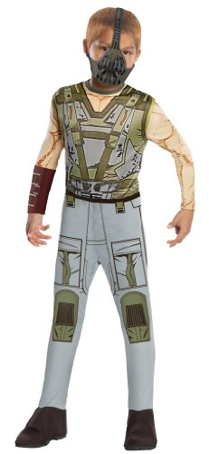 Bad Guy Superhero Costumes (Batman Dark Knight Rises Child's Bane Costume and Mask - Medium)