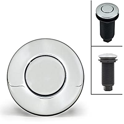 Geyser Chrome Garbage Disposal Air Switch Button NEW