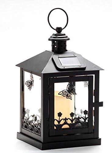 Solar jardín Farol Mariposas Solar lámpara decoración jardín 14146 ...