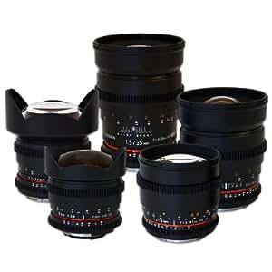 Rokinon Cine Lens Complete Bundle - 35mm + 24mm + 14mm + 85mm + 8mm for Canon