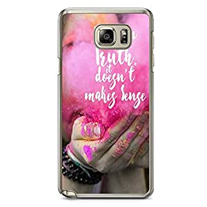 Samsung Note 5 Transparent Edge Phone Case Truth Phone Case Colors Phone Case Happy Note 5 Cover with Transparent Frame